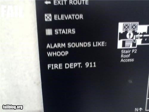failboat fire safety g rated onomonopia Professional At Work signs - 4869845248