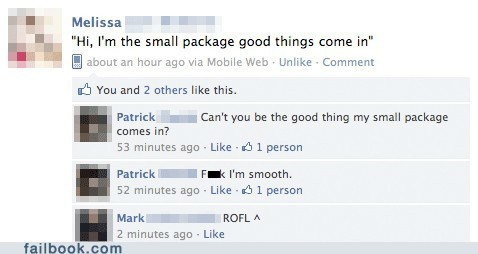 good things come in small packages pick-up lines girls