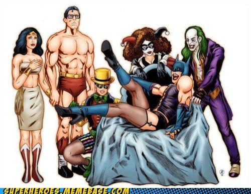 Awesome Art batman Harley Quinn joker robin superman wonder woman - 4870333440