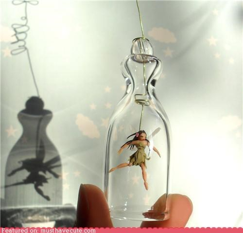 bottle dance fairy sculpture trapped wings - 4870362880