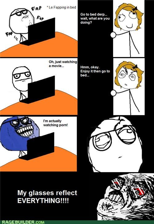 Awkward glasses Movie pr0n Rage Comics reflection - 4871163392