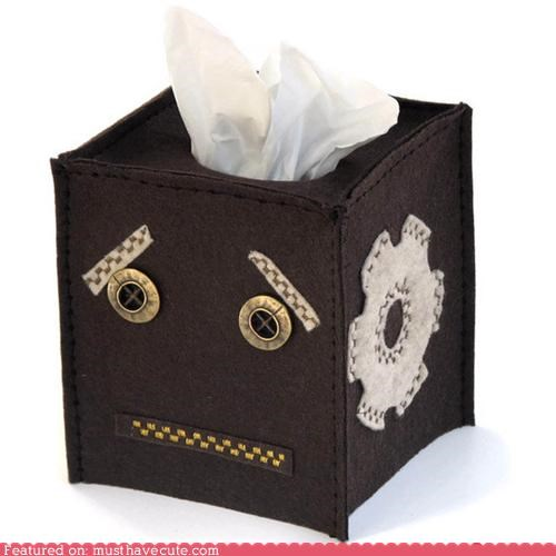 cover face felt robot Sad tissue worried - 4871286272