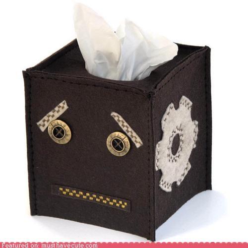 cover face felt robot Sad tissue - 4871286272