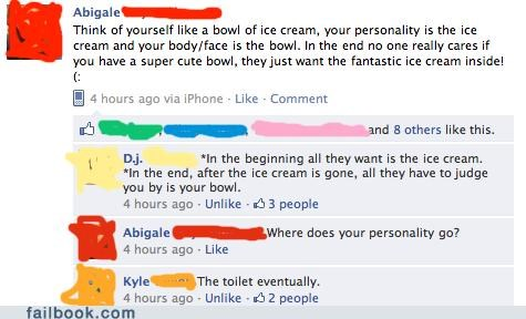 ice cream,philosophy,witty reply