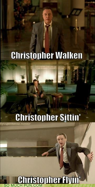 action,actions,activities,activity,christopher walken,flying,literalism,sitting,surname,walking