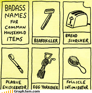 Badass common items names