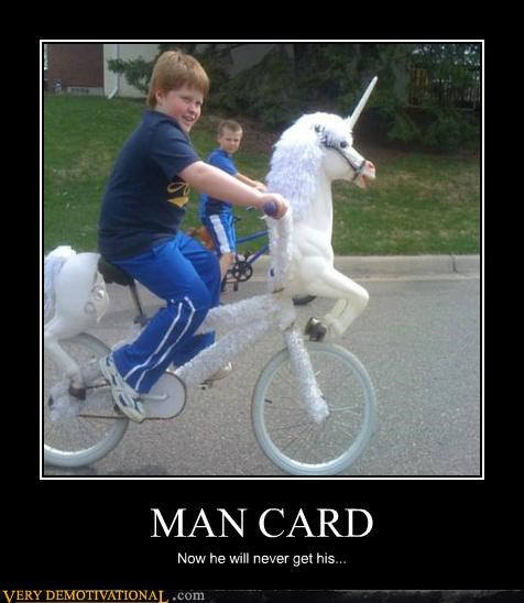 bike,hilarious,kids,man card,unicorn,wtf