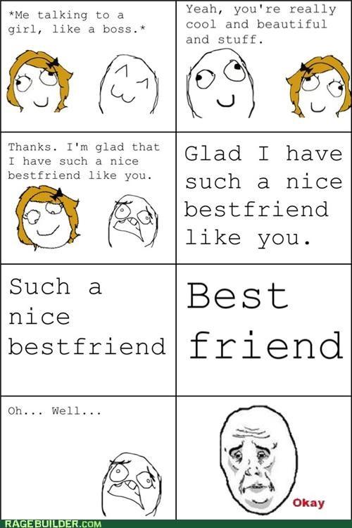best friend forever alone friend zone Rage Comics - 4871615744