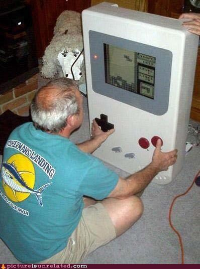 gameboy huge old people tetris wtf - 4871688704