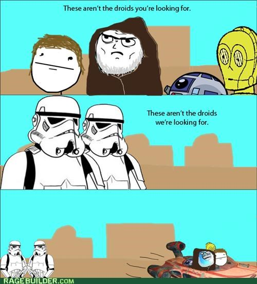 droids,i lied,Rage Comics,star wars
