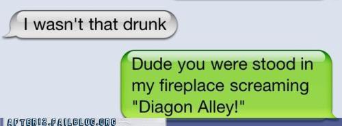 Harry Potter last night text - 4871824384