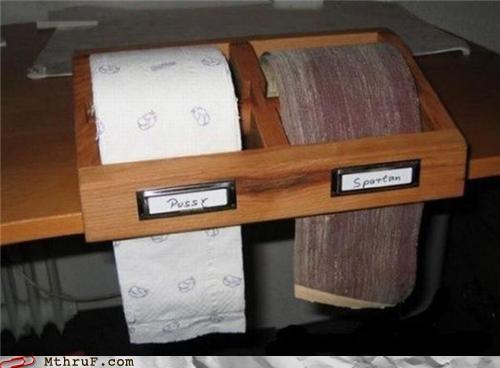Badass,sandpaper,toilet paper