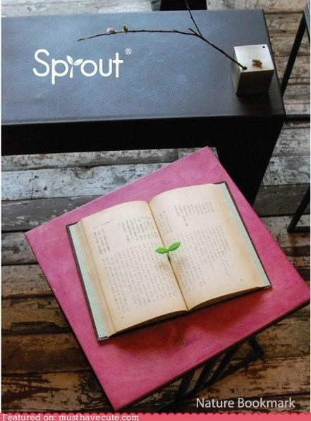 bookmark green plant plastic sprout