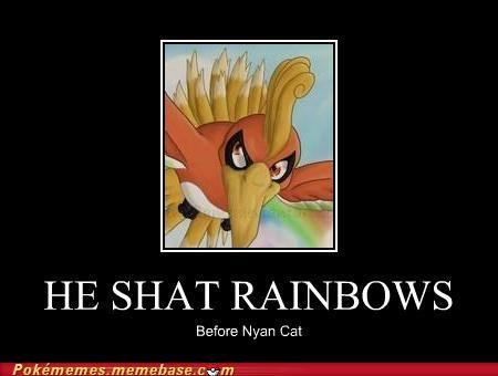 hipster,ho-oh,nyancat,rainbows