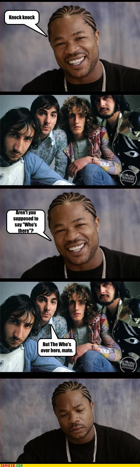 bad joke,knock knock,the who,Xxzibit