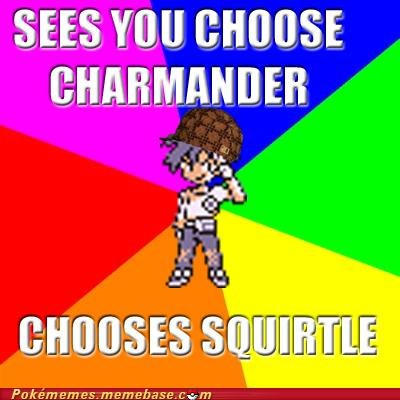 charmander,gary,Good Guy Greg,Scumbag Steve,squirtle,starter pokemon