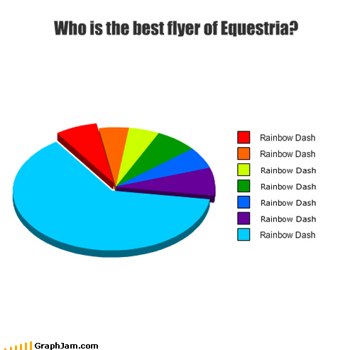 equestria my little ponies Pie Chart rainbow dash