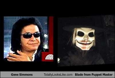 Gene Simmons Totally Looks Like Blade from Puppet Master
