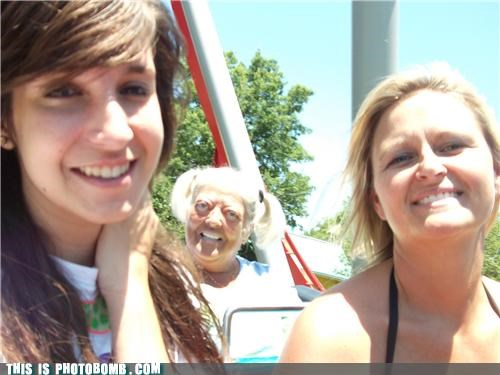 amusement park,elderbomb,grandma,haircut,ride,that face