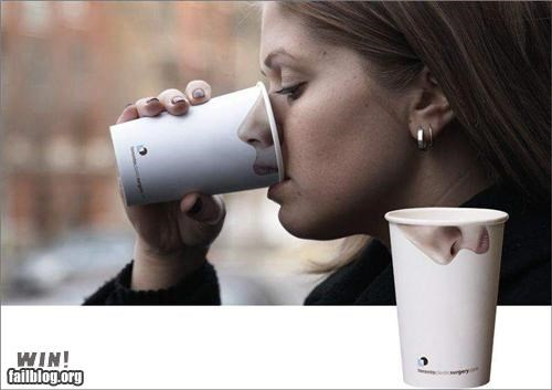 Ad,clever,coffee,cups