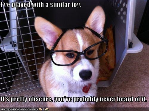best of the week,condescending,corgi,Hall of Fame,heard,hipster,Hipster Dog,never,never heard of it,obscure,pretentious