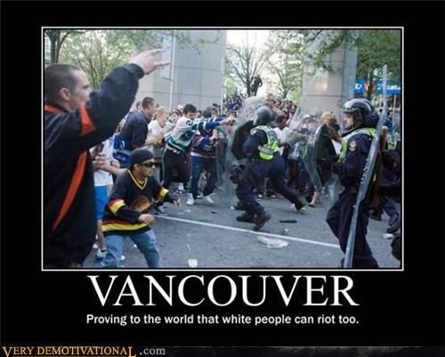 awesome hockey Pure Awesome riots vancouver white people - 4874092288