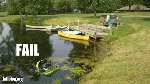 crash failboat falling g rated lawn mower summer water damage - 4874331136