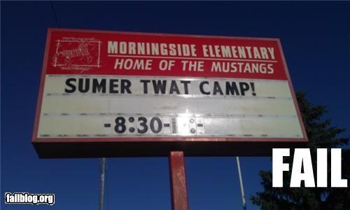 acronym camp failboat innuendo school signs swear words - 4874353408