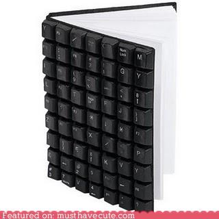 blank pages keyboard keys notebook plastic - 4874371328