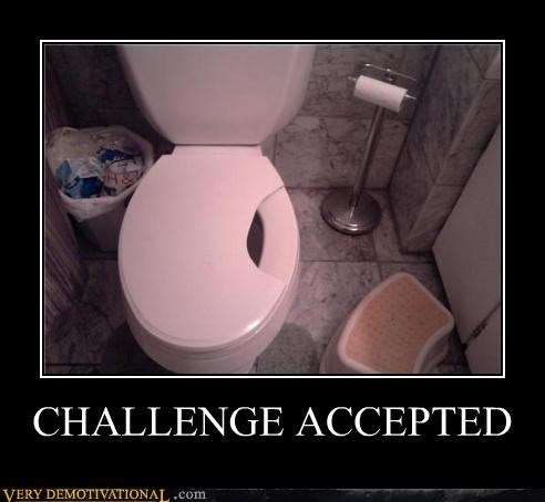 Challenge Accepted hilarious pee small hole toilet - 4874599168