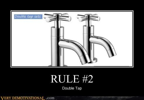 double tap,hilarious,rule 2,sink,spigots,zombie