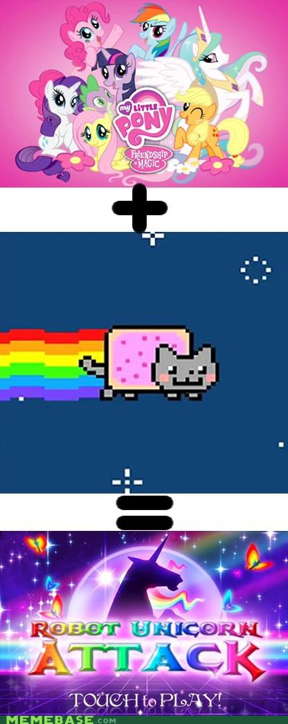 attack my little pony Nyan Cat origins robot unicorn - 4875086848