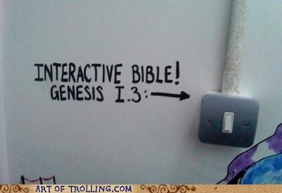 bible,IRL,light,switch