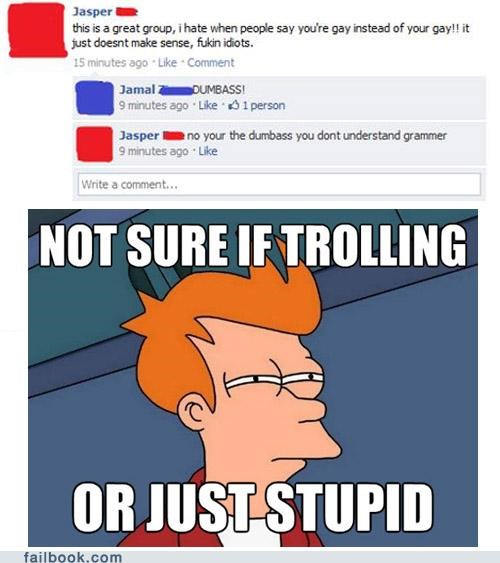 facepalm futurama not sure if trolling spelling - 4875198720