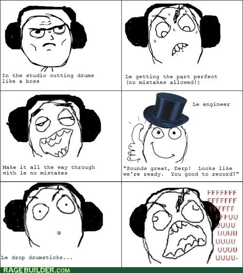 drums hard nervous Rage Comics - 4875378688