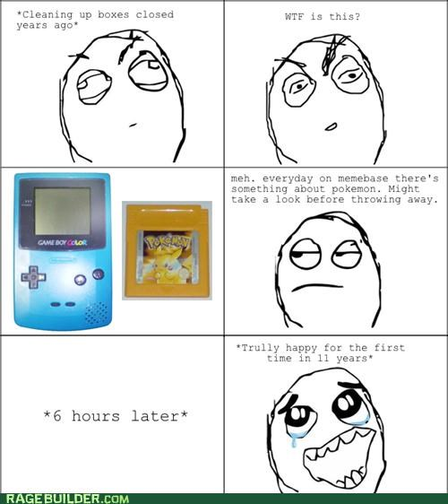 blue childhood gameboy happiness pokemon yellow red