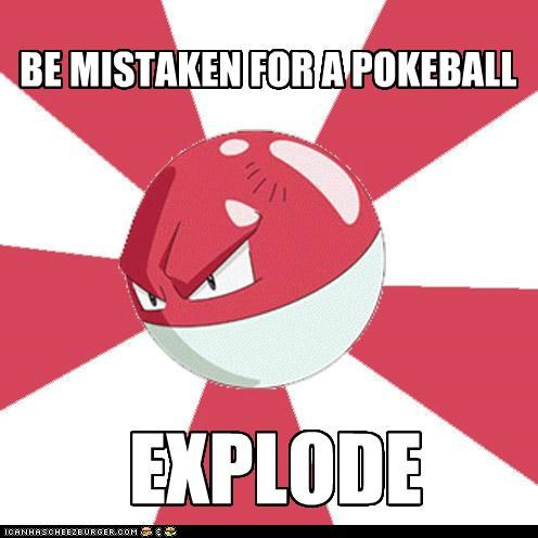 explode pokeball troll voltorb