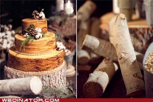 funny wedding photos trees wedding cakes - 4876148736