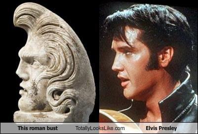 busts,Elvis Presley,musicians,roman bust,sculptures