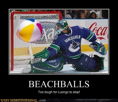 beachballs goalie hilarious hockey - 4876859392