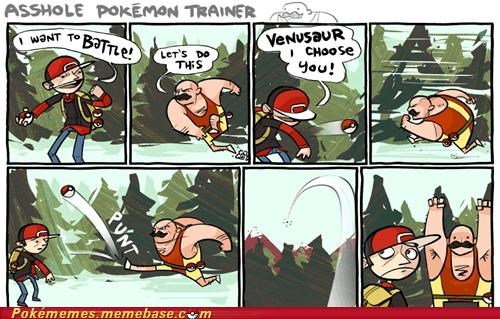Battle,comic,doing it wrong,fighter,pokeball,punt