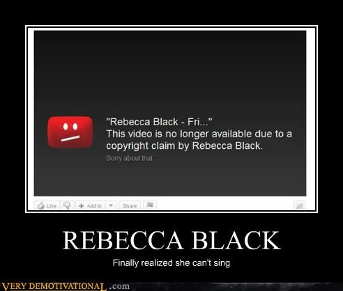 hilarious,Rebecca Black,removed,Video
