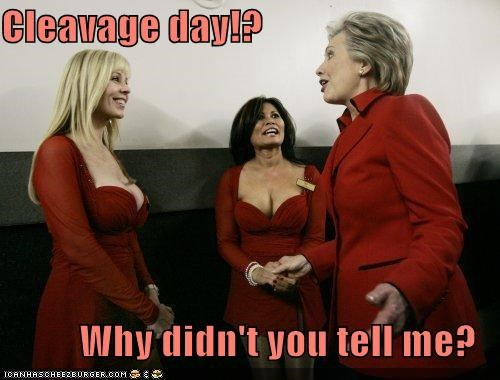 Cleavage day!?  Why didn't you tell me?