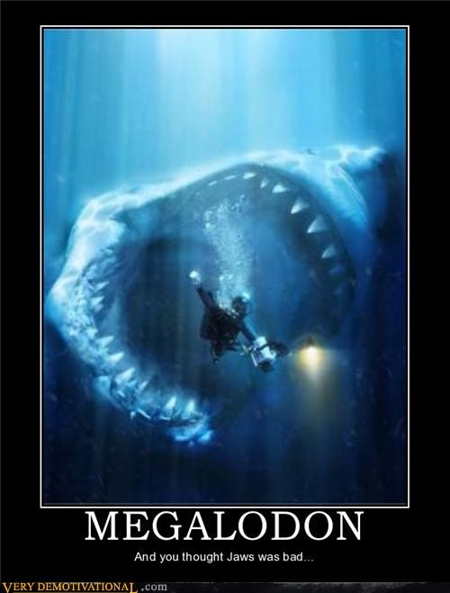 creepy hilarious huge jaws megalodon scary shark - 4877150720