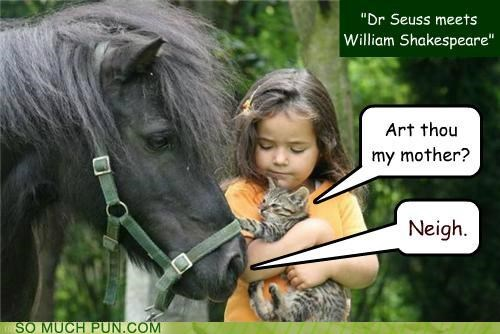 answer combination dr seuss homophone juxtaposition nay neigh question shakespeare william shakespeare - 4877334272