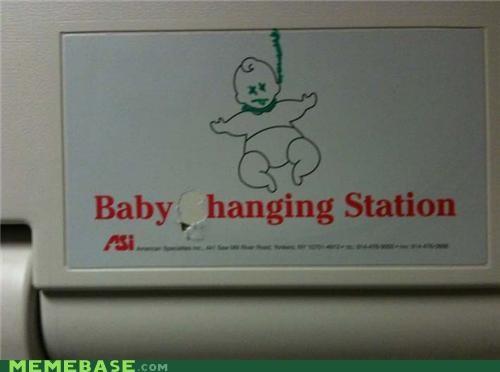 baby changing hanging IRL - 4877640704
