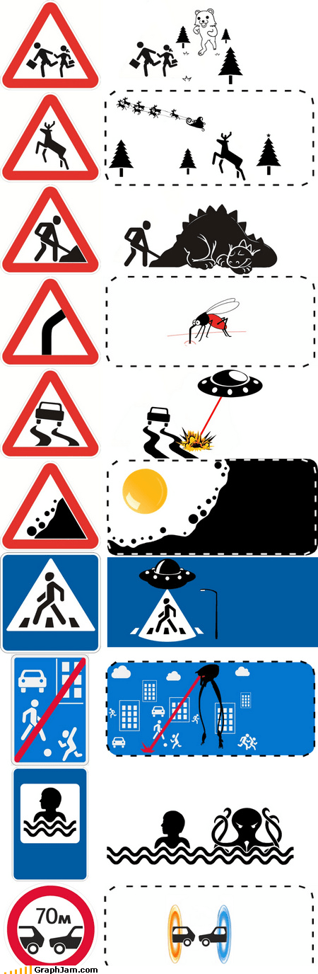 Portal,traffic signs,war of the worlds