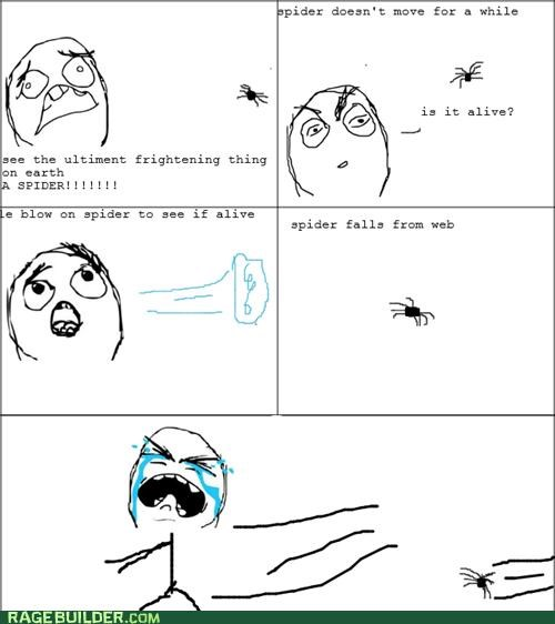 Rage Comics scary spider you done goofed