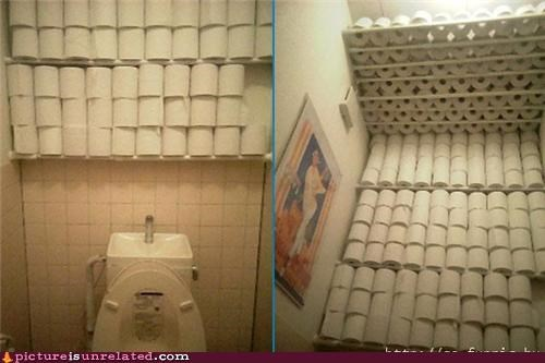 Adequate Stock of Bathroom Tissue