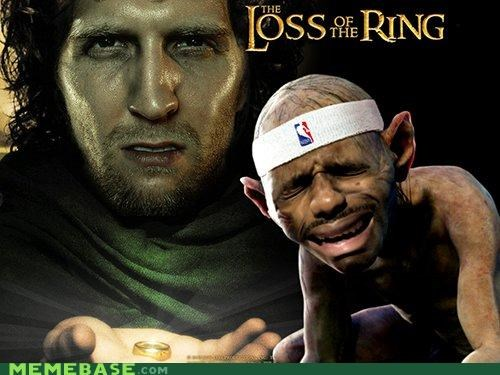 basketball lebron Lord of the Rings Memes puns sports - 4878135808